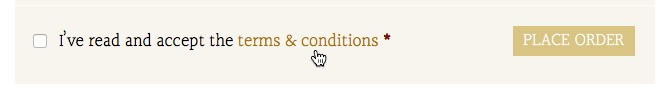 Click on Terms and Conditions