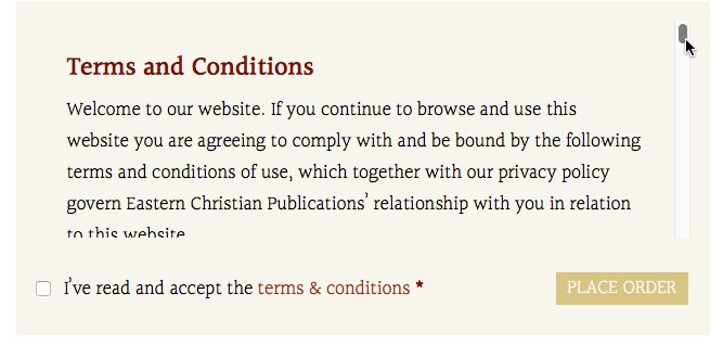 Read terms and conditions